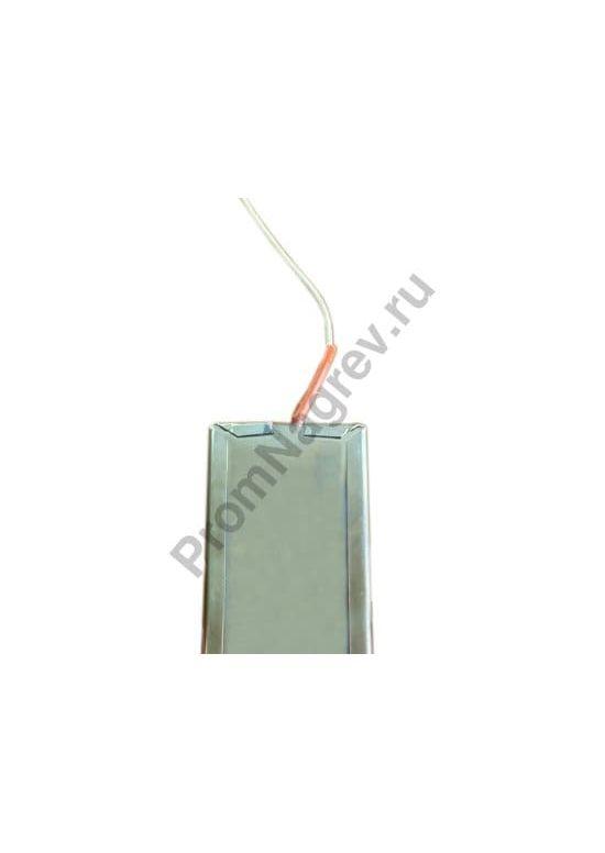 Плоский миканитовый нагревательный элемент в корпусе из нержавеющей стали 270*60 мм, 500Вт/230В