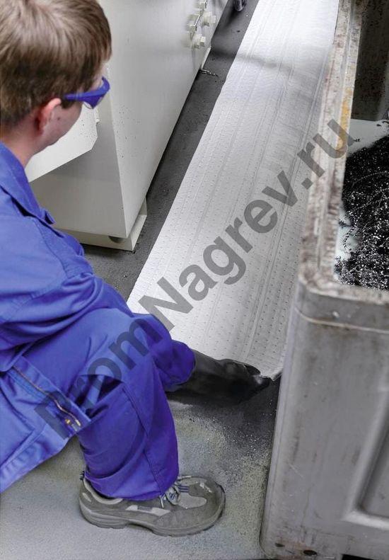 Рулон впитывающего материала для нефти и масла, однослойного, тонкого, 38 см x 45 м, 1 шт.