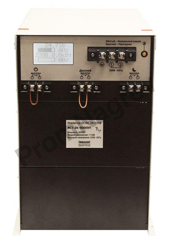 Преобразователь напряжения DC/AC, 24В/220В, 6000Вт