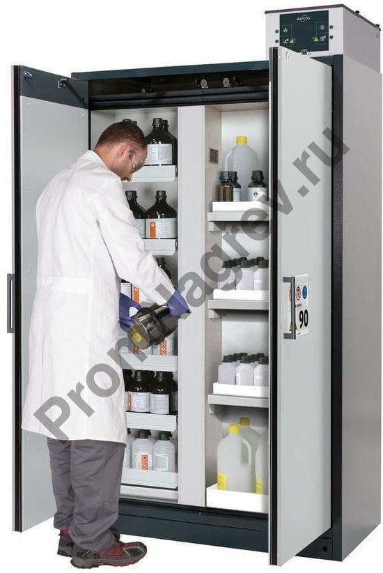 Огнестойкий шкаф c выдвижными лотками и центральной перегородкой