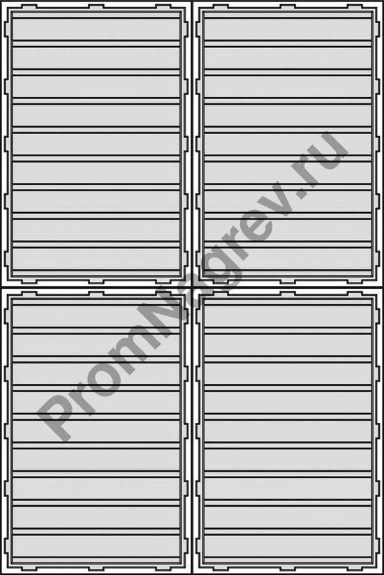 Схема размещения поддон на палетте, первый вариант.