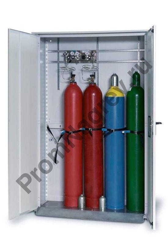 Шкаф для баллонов со сжатым газом LG 1350 для 5 баллонов по 50 литров, один уровень хранения