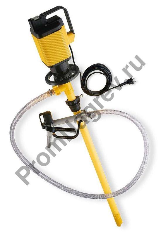Электрический насос для бочек из полипропилена для агрессивных кислот и веществ с высокой плотностью, глубина погружения 1200 мм