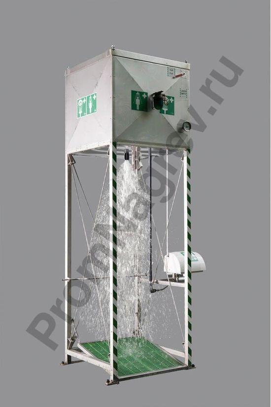 Комбинированный душ для тела и глаз GFTS 1.2 с резервуаром из нержавеющей стали