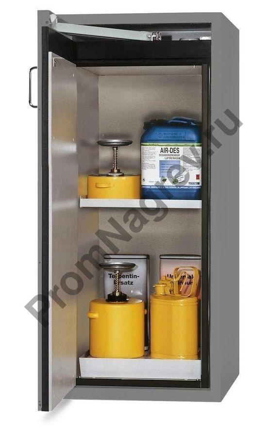 Шкаф огнестойкий для опасных веществ, упор двери слева.