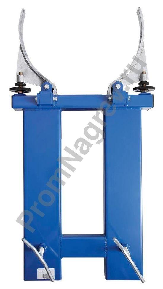 Зажим для автопогрузчика для транспортировки стальной или пластиковой бочки, вид сверху